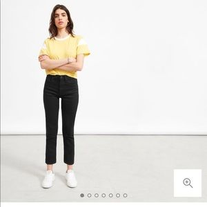 Everlane High Rise Straight Jean in black